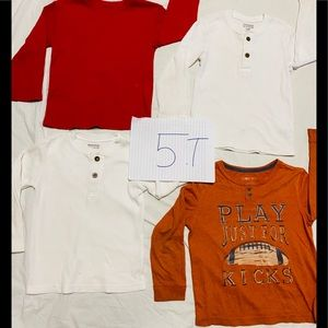 4 piece shirts size 5 lightly used